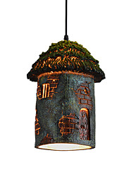 Maishang Lighting Retro Pendant Lamp 1 Light For Dinning Room And Coffee Shop Material Resin