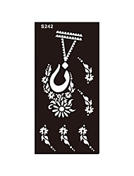 1pc Temporary Airbrush Tattoo Body Art Henna Indian Necklace Jewelry Stencil Tattoo Sticker Sexy Product S242