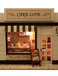 For A European Home Diy Hut Stores Cake Love With Lamp Creative Chinese Valentine'S Day Gift