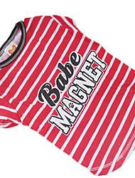 Hunde T-shirt Rot Sommer Zebra