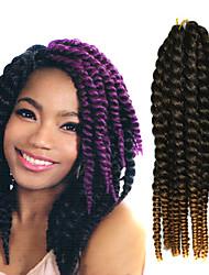 crochet trança havana mambo extensão do cabelo torção afro 12-24 polegadas preto para loiro