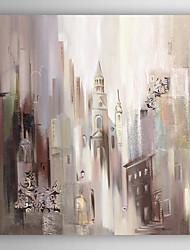 pintados à mão pintura a óleo destino urbana com moldura abstracta esticado arts® 7 parede