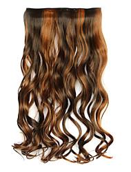 preto e marrom comprimento 60cm sintéticos cinco cartas e cabelos longos cabelos crespos três perucas (cor 4ah27a)