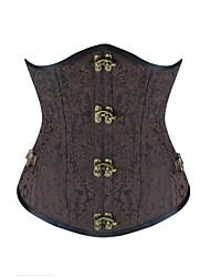 Shaperdiva Women's Gothic Steampunk Double Steel Boned Waist Training Corsets