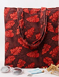 Women Silk / Cotton Casual / Shopping Shoulder Bag Green / Brown