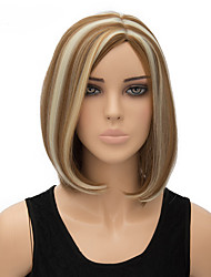 Fashion Natural Middle Length Multi-color Straight Wigs Synthetic Wig