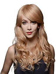 New Design Fashionable Long Wavy Remy Human Hair Hand Tied -Top Emmor Woman's Wig