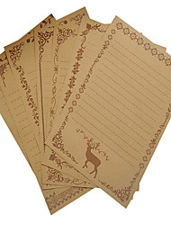 Vintage Lace kraft paper letter set (a set of 8 pieces of random pattern)
