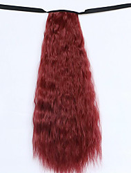 Wig Red Wine 50CM Water Synthetic High Temperature Wire Hot Corn Horsetail Color 118