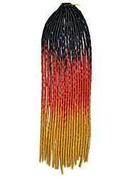 20 inch Kanekalon Senegalese Braids Crochet Soft Dreadlock Braiding Hair 20pcs/lot Ombre Color Black Red Brown with Crochet Hook