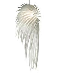 Modern Pendant Light Romantic Novelty White Angel Wings PP Plastic Feather Bedroom Dinning Room Home Decor Lighting