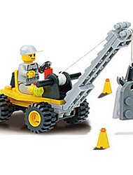 6309 Toy Manufacturers Open Intellectual Puzzle Blocks Boy Engineering Series - Small Crane (40 Boxes)