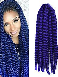 12-24 polegadas crochet trança havana mambo afro torção cabelo extensão roxa