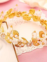 Mujer Perla / Cristal / Aleación Celada-Boda / Ocasión especial Tiaras 1 Pieza