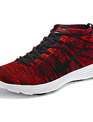 Nike Flyknit Round Toe / Sneakers / Running Shoes / Casual Shoes Women's Wearproof Lace-up / High-Top / Braided RedRunning/Jogging /