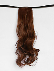 la onda de agua de oro medio de tipo vendaje sintético peluca de pelo cola de caballo marrón (color 30b)