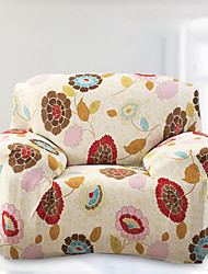 Printed Tight All-inclusive Sofa Towel Slipcover Slip-resistant Fabric Elastic Sofa Cover (Light Yellow)