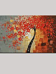 ручная роспись абстрактной красный цветок жизни деревья картина маслом с растянутыми кадра