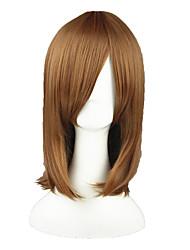 Parrucche Cosplay Shirobako Lyserg Diethel Marrone Medio Anime Parrucche Cosplay 45 CM Tessuno resistente a calore Uomo / Donna