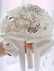 Vintage White Diamond Round Wedding Bouquet