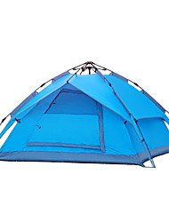 Yunyi 3-4 persons Tent One Room Camping Tent Waterproof Breathability Dust Proof Keep WarmBlue