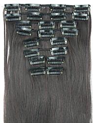peruca de cabelo em linha reta extensão do cabelo sintético 62 centímetros de alta temperatura comprimento do fio preto