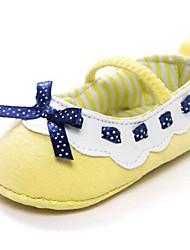 Girl's Flats Summer Comfort Cotton Outdoor Yellow