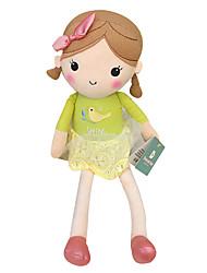 echte Frühlingsmädchen Puppe Plüschspielzeugpuppe Baby-Puppe Puppe Mädchen Geschenk Vogel beige Rock Sitzhöhe 35 cm zu beschwichtigen