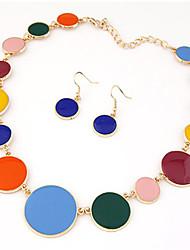 Ensemble de bijoux Alliage Acrylique Bijoux de déclaration Blanc Noir Rouge Bleu Arc-en-ciel Collier / Boucles d'oreillesSoirée Quotidien