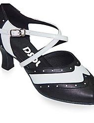 Zapatos de baile(Negro) -Moderno / Zapatos de Swing-Personalizables-Tacón Cuadrado
