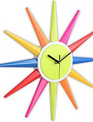 Moderne/Contemporain Autres Horloge murale,Rond Métal 40*40*3.6cm Horloge