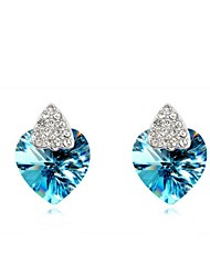Thousands of colors Solitaire Earrings Women's Alloy Earring Crystal-2-418