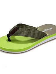 Unissex-Sandálias-Conforto-Rasteiro-Preto Amarelo Verde Azul Real-Couro Ecológico-Casual