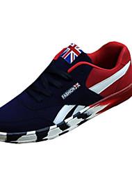 scarpe da uomo in pelle scamosciata moda casual scarpe da tennis casuali camminare piane altri tacco nero / blu / nero e rosso