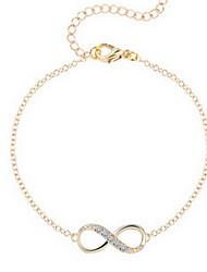 Femme Chaînes & Bracelets Basique Mode Simple Style bijoux de fantaisie Alliage Bijoux Infini Bijoux Pour Quotidien Décontracté Sports