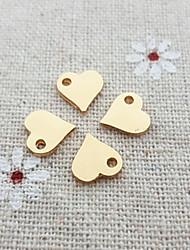 20pcs simples charme colar de coração para fazer jóias DIY (8 * 9 milímetros)