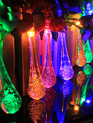 4.8M 20 LED Raindrop Solar Powered Outdoor String Lights for Outside Garden Patio Party Christmas (Multi Color)