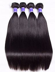 Malaysian Virgin Hair Weft Silk Straight 1Pcs 6A Unprocessed Virgin Silk Straight Hair Weaves Cheap Human Hair Extension