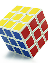 Shengshou® Cube velocidade lisa 3*3*3 Fluorescente / profissional Nível Cubos Mágicos Preta / Branco Plástico