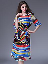 vintage das mulheres maxlindy sair / festa / sofisticados um vestido de linha