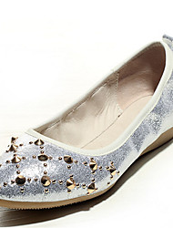 Women's Shoes Nappa Leather Spring / Summer / Fall Ballerina / Pointed Toe Flats Casual Flat Heel Rivet