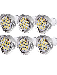 7W GU10 Spot LED R63 15 SMD 5630 700 lm Blanc Chaud / Blanc Froid Décorative AC 100-240 / AC 110-130 V 6 pièces