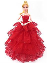 Vêtements de Poupées Loisirs Costume Plastique Rouge Pour Filles 5 à 7 ans