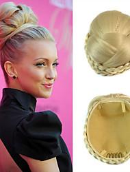 свадебные свадебные прически шиньон бун клипы заплетает синтетические прямые наращивания волос отбеливатель блондинка