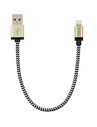 tallar IMF rayo 0.6ft / 20cm de nailon para cable de datos USB para el iPhone de la manzana 7 6s 6 Plus SE 5s mini-5 / ipad