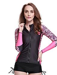 SBART Femme Combinaisons Tenue de plongée Compression Costumes humides 1.5 à 1.9 mm Blanc / Noir S / M / L / XL Plongée