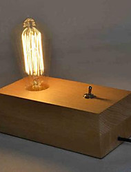 American IKEA Solid Wood Desk Lamp Edison Lamp