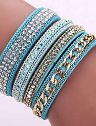 Fashion Korea Flannelette Diamond Bracelet Alloy Chain Bracelet Magnetic Clasp #YMG1086