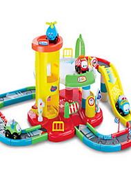 feliz série de autocarros faixa de montagem parque de estacionamento de brinquedos eléctricos de transporte público urbano
