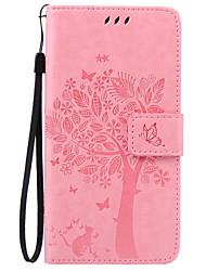 Pour Coque Huawei P9 P9 Lite P8 P8 Lite Mate 8 Porte Carte Portefeuille Avec Support Clapet Relief Motif Coque Coque Intégrale Coque Arbre